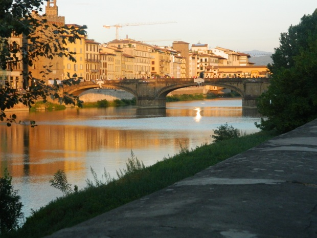 Sunset on the Arno